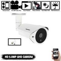 Cámara NINIVISION 5MP AHD con SONY IMX335 H.265 Bullet Security cámara de videovigilancia 3,6mm lente 6 matriz Led infrarrojo