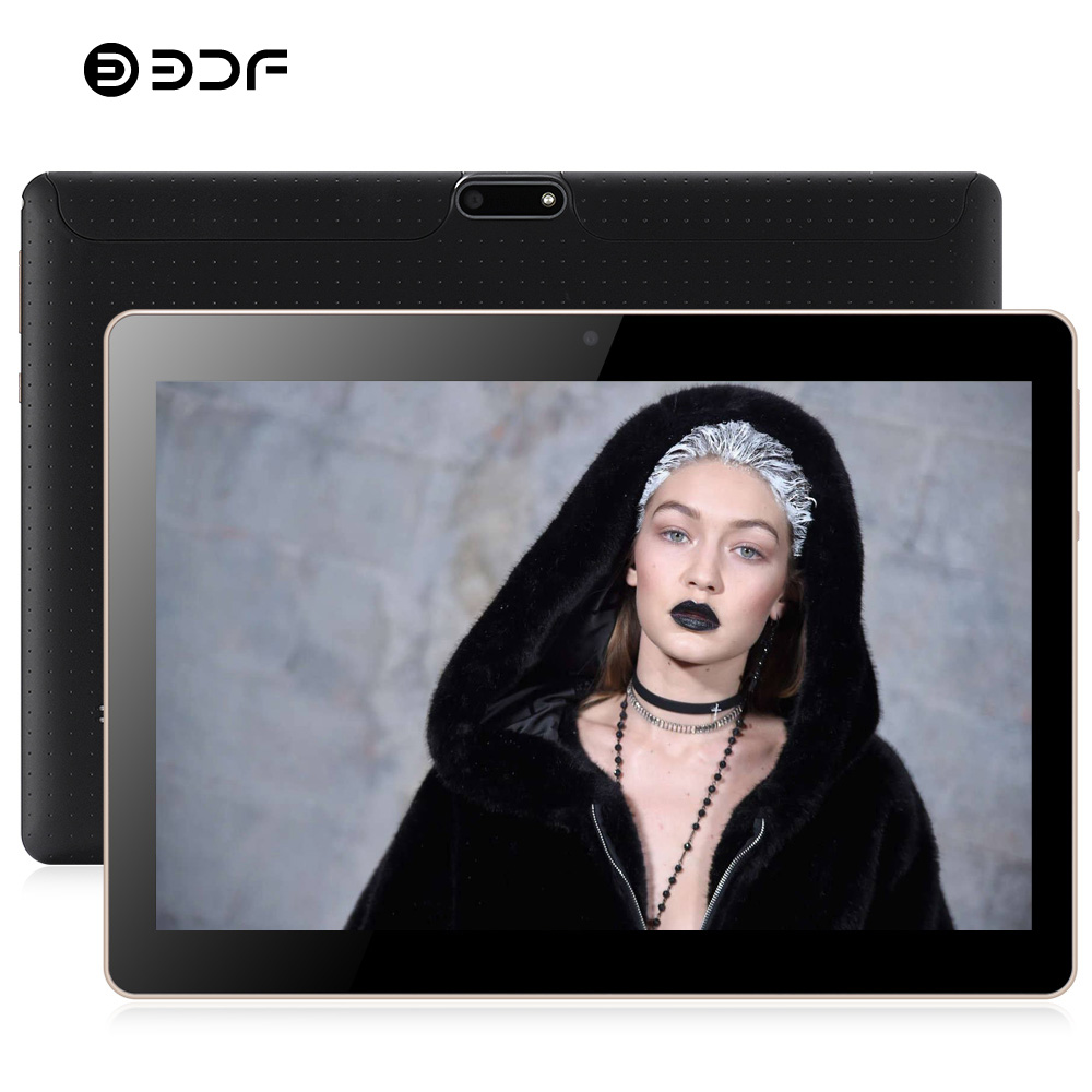 BDF 2020 New 10 Inch 3G Tablet PC Quad Core 1GB RAM 32GB ROM 1280*800 IPS Tempered Glass 10.1 Tablets Android 7.0 Mobile Phone