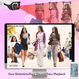 Image 3 - H.265 + 8CH 5MP 6in1 Gesicht Rekord DVR Sicherheit AHD Kamera System Kit UHD 2592*1944P Wasserdichte CCTV video Überwachung koaxial Set