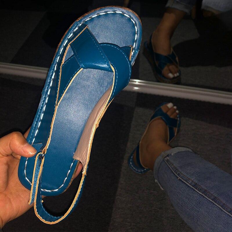 Women Sandals Summer Female Shoes Women's Peep Toe Wedge Woman Comfortable Plus Size Female Platform Ladies 2020 New