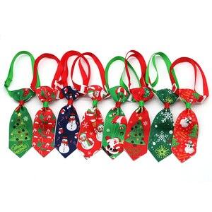 Image 1 - 100 шт., рождественские аксессуары для собак, ошейники для собак, кошек, галстуки бабочки, рождественские товары для домашних животных, ошейники для собак, аксессуары для домашних животных