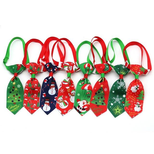 100 шт., рождественские аксессуары для собак, ошейники для собак, кошек, галстуки бабочки, рождественские товары для домашних животных, ошейники для собак, аксессуары для домашних животных