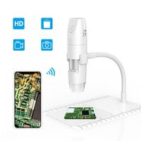 1000x WiFi Digital Microscope inskam316 Portable HD 1080P USB Microscope Camera with Snake Tube Bracket SwitchFor IOS Android PC