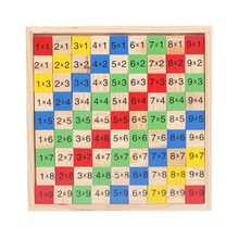 Wooden digital board multiplication operation children early education math toy children preschool education counting stack