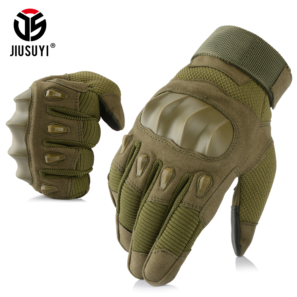 2019 New Touch Screen Tactical Gloves Army Combat Airsoft Shot Soldier Force Hard Knuckle Military Full Finger Gloves Men Women