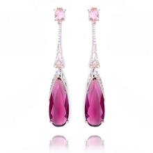 XIUMEIYIZU boucles doreilles en forme de goutte deau, Tourmaline, breloques, cristal zircone, longues boucles doreilles pour femmes, bijoux tendance