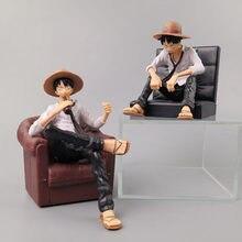 1 pièces dessin animé une pièce singe D Luffy Sabo Ace Gear une pièce Figurine avec canapé pour voiture décoration de la maison Action Figure jouets