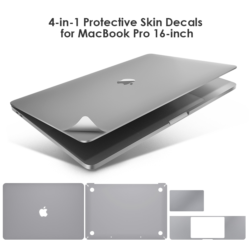 Lention Full Body Sticker For 16-inch MacBook Pro A2141, Include Top + Bottom + Touchpad + Palm Rest Skin Full-Cover Protective