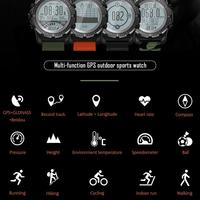 S966 GPS Smart Watch Smartwatch Heart Rate Monitor Temperature Multi sport Compass Racing outdoor Sport Watch For Android IOS