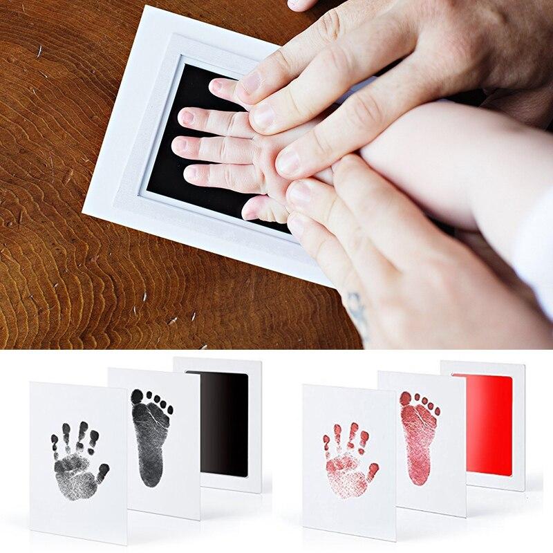 Детский отпечаток ноги нетоксичный новорожденный отпечаток руки Inkpad водяной знак младенческой сувениры литье глиняные игрушки подарок