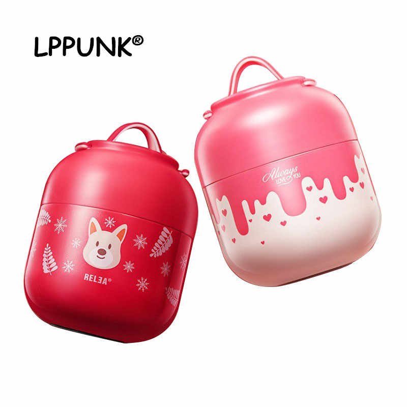 HOT 700ml Vacuum Insulated Keep Food Warm Leakproof Lunch box Containers Stainless Steel Thermal Food jar braised pot handle
