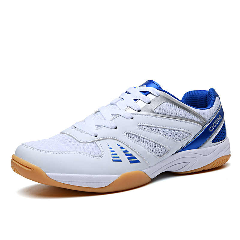 Men Women Badminton Shoes Outdoor Sports Comfortable Male High Quality Tennis Shoes White Purple Women Trainer