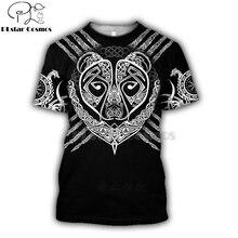 Модная мужская и женская футболка с 3d принтом «viking tattoo»