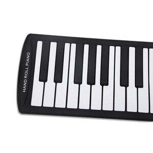 Портативный 61 клавишный гибкий рулон пианино USB MIDI электронная клавиатура ручной рулон пианино