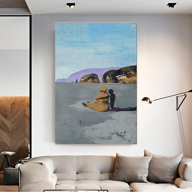 Modern Printed Canvas Painting Wall Art Salvador Dali Oil Painting Ladolescence Wall Pictures For Living Room Home Decor 1