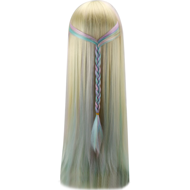 HAIRJOY Synthetic Hair Colorful Cosplay Ombre 75cm Long Straight Harajuku Lolita Wig 2