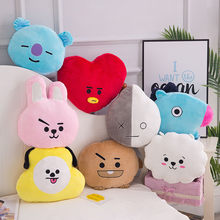 המקורי 35cm בפלאש צעצוע Kpop Bangtan בני כרית Bt 21 לחזק TATA ואן COOKY CHIMMY SHOOKY KOYA RJ מאנג כרית בובות(China)