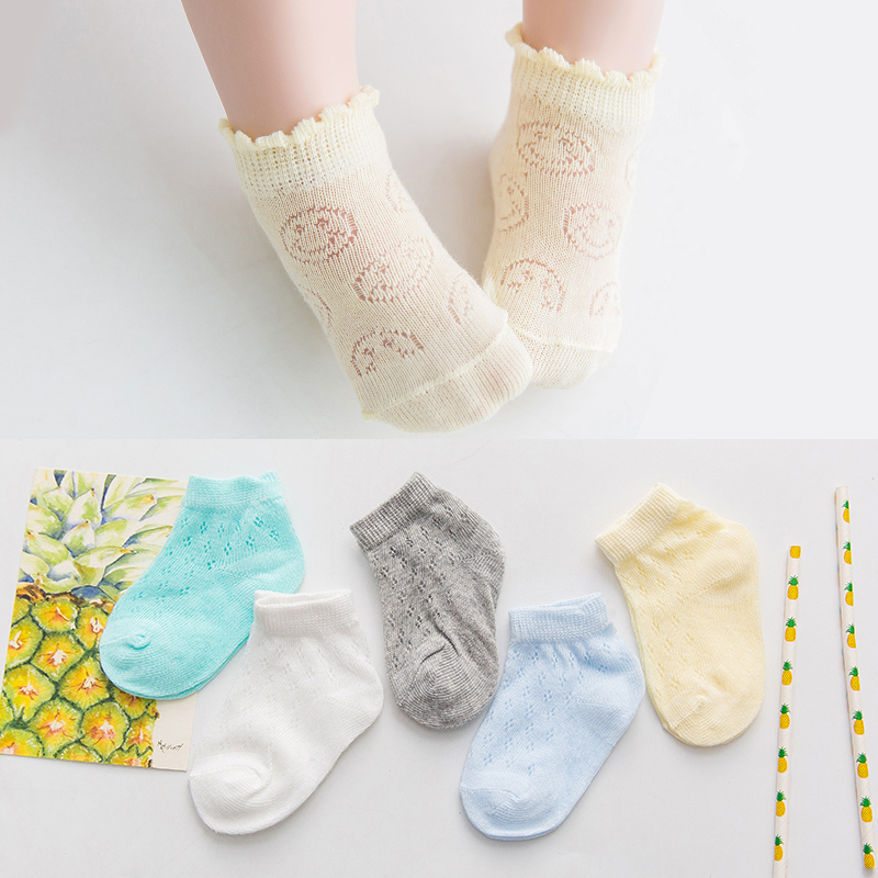 5Pairs/Lot Cute Kids Socks  Breathable mesh Short Socks Spring Summer Children Boys Girls Ankle Socks 1