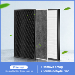 H12 Hepa Filter and Actived Carbon Filter for Sharp KC-D50-W,KC-E50,KC-F50,KC-D40E  air purifier to  filter dust ,pet hair