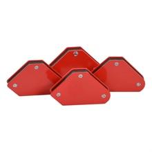 4 ピース/ロット 4 溶接マグネット磁気正方形ホルダー矢印クランプ 45 90 135 9LB磁気用電気溶接鉄ツール