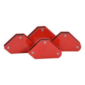Image 1 - 4 Stks/partij 4 Lassen Magneet Magnetische Vierkante Houder Pijl Klem 45 90 135 9LB Magnetische Klem Voor Elektrische Lassen Ijzer gereedschap