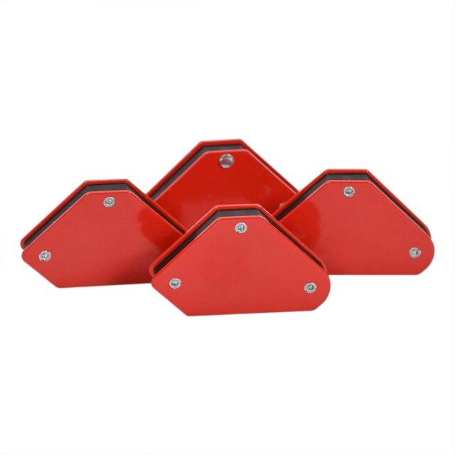4 adet/grup 4 kaynak mıknatıs manyetik kare tutucu ok kelepçe 45 90 135 9LB manyetik kelepçe elektrik kaynak demir araçları