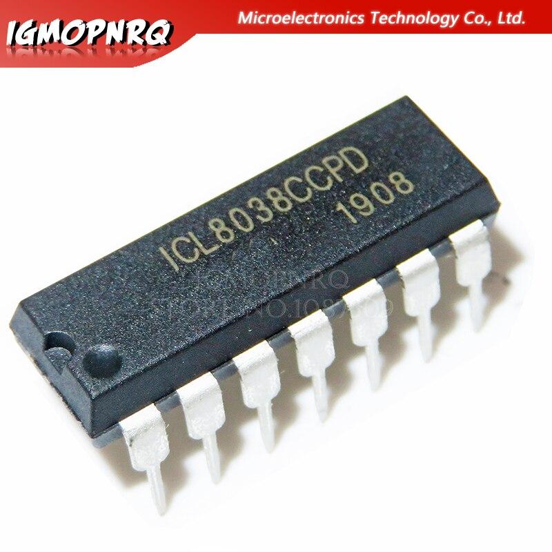 5 шт. ICL8038CCPD DIP14 ICL8038 DIP прецизионный генератор сигналов/генератор с контролем напряжения, новый и оригинальный IC