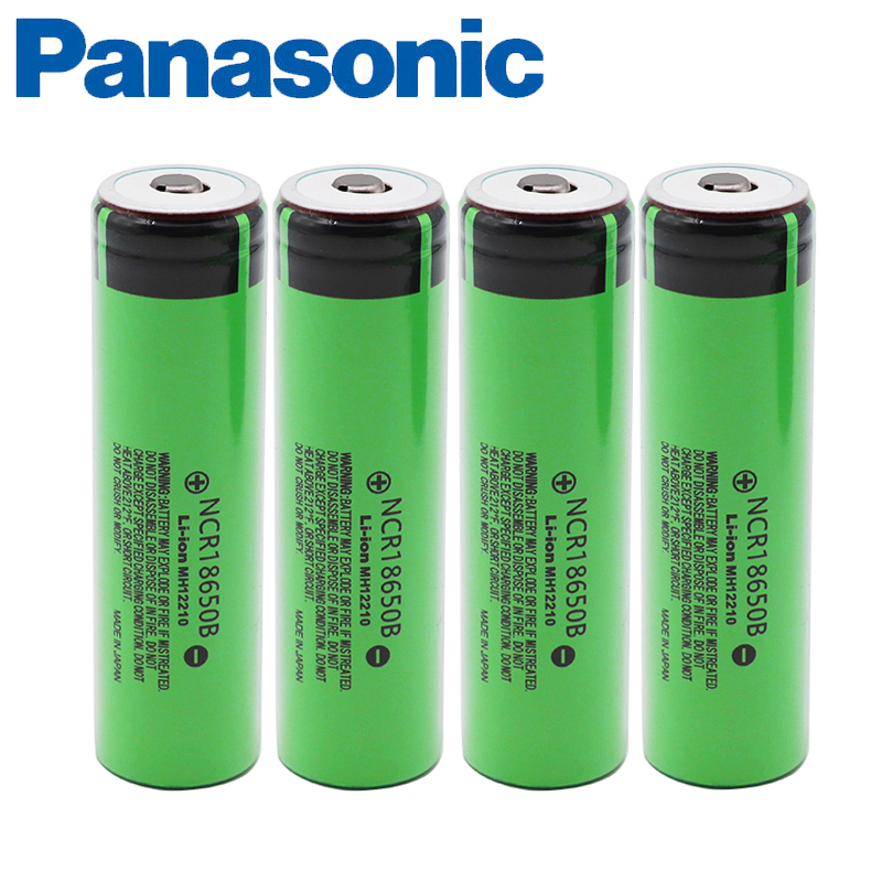 Panasonic 100% Original Genuine 3.7v 18650 Rechargeable Battery 3400mAh Lithium NCR18650B For Toys Flashlight Batteries