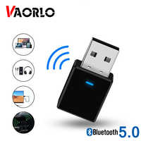VAORLO Mini 2 In 1 Bluetooth Recevier and Transmitter Wireless USB 5.0 Adapter Stereo With 3.5MM AUX Jack For Headphones Adaptor