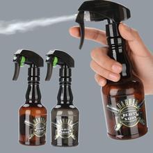 300 мл многоразовая Парикмахерская бутылка с распылителем воды Парикмахерская винтажная распылительная бутылка тумана инструмент для волос коричневый салонный инструмент для ухода за волосами