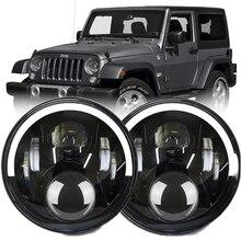 "Car 12V 7"" Led Headlight For Jeep Wrangler JK CJ TJ Hummer H1 H2 Truck Lada Niva 4x4 DRL Turn Signal Head Lights Assembly 2pcs"