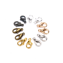 20/100Pcs/Set Lobster Clasp for Bracelets Necklaces 10 14mm Alloy Hooks Chain Closure Finding Accessories for Jewelry Bracelet