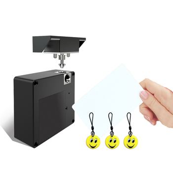 Invisible 13.56MHZ IC Card RFID Smart Hidden Cabinet and Drawer Lock Apply Single Door Double Door No Need Open Hole 1set rfid card rfid ring drawer smart lock intelligent hole free punch wardrobe lock safety induction door lock cabinet nfc card