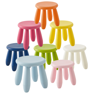 Children's Stool Plastic Stool Color Fashion Small Round Stool Kindergarten Stool Bearing 200 Kg