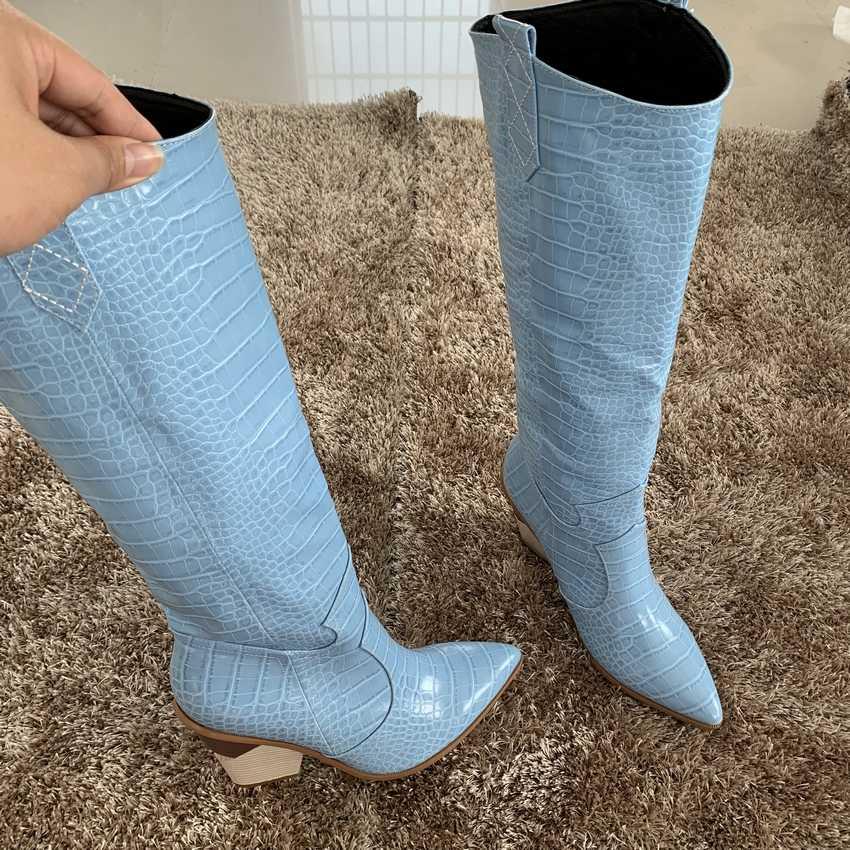 9.5CM Womens Dij Hoge Laarzen Dame Sneeuw Bont Boot Vrouw Over de Knie Winter Laarzen Dames Hoge Hak Schoenen Vrouwen schoen Leer Laarzen