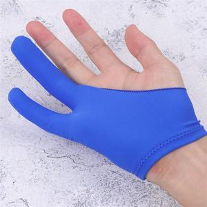 Guante de pintura de dos dedos, guantes antiincrustantes para artistas, guante de dibujo curvo para bocetos, guantes de pintura para hijas para cualquier tableta de dibujo gráfico