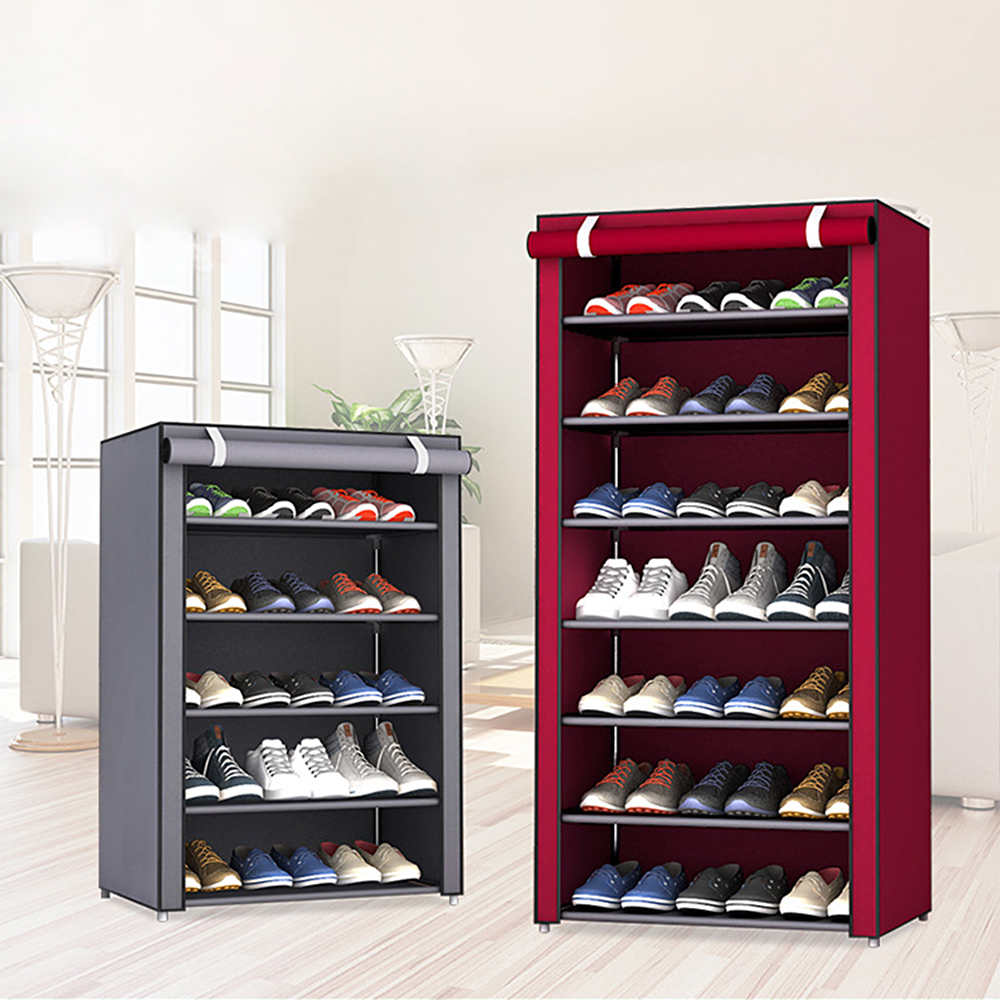 4/5/6/8/10 Layers Dustproof Shoes Rack Non-Woven Fabric Shoe Stands Organizer Closet Home Shoes Storage Holders Shelf Cabinet 1
