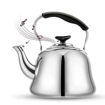 4 5L czajnik wodny kawa ze stali nierdzewnej dźwięk czajnik kuchnia dźwięk czajnik gaz i gaz kuchenka indukcyjna ogólnego przeznaczenia czajnik tanie i dobre opinie CN (pochodzenie) STAINLESS STEEL Ekologiczne Stainless Steel Kettle
