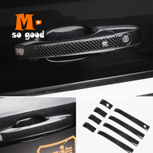 2014 2015 2016 2017 for Jeep Grand Cherokee Car ABS Carbon Fiber Door Protector Handle Decoration Covers Trim Auto Accessories sansour 4pcs car door inside sill covers door step sill trim cover pads for jeep grand cherokee 2011 2015