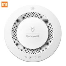 цена на Xiaomi Mijia Honeywell Fire Alarm Detector Remote Control Audible Visual Alarm Notication Work with Mi Home APP Original