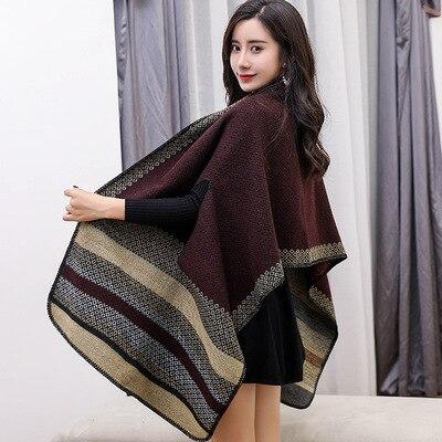 Новинка, роскошный брендовый женский зимний шарф, теплая шаль, женское Клетчатое одеяло, вязанное кашемировое пончо, накидки для женщин, echarpe - Цвет: style 6