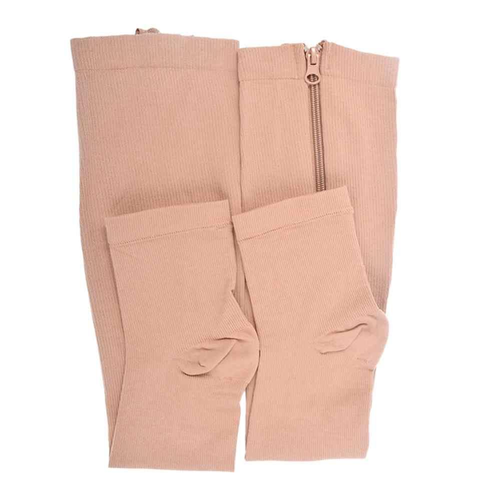 Quema grasa calcetines quemar cremallera de compresión gran calcetines pierna Slim belleza dormir mujeres prevenir las venas varicosas Calcetines, Medias