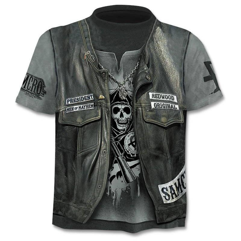 2020 new Drop ship 3D printed T-shirt men's women's tshirt punk style top tees skull t shirt gothic tshirt asian size 6XL gym 4