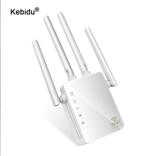 kebidu 2.4G / 5G Wireless Wifi Repeater Dual Band AC 1200Mbps 4 High Antennas Bridge Signal Amplifier Wired Router Wi Fi Access