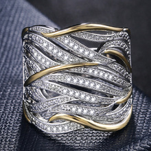 Huitan Unique Shape Women Ring Bridal Wedding Ceremony Rings High Quality Special interest Versatile Accessories Trendy Rings