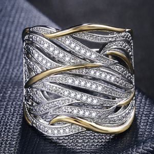 Image 1 - Huitan Unique Shape Women Ring Bridal Wedding Ceremony Rings High Quality Special interest Versatile Accessories Trendy Rings