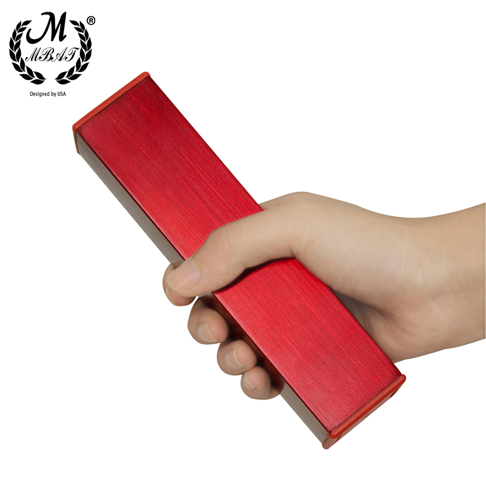 M MBAT MJ-05 Orff Instrument Metal Sand Tube Shaker Child Education Musical Parts Rectangle  ChildrenPercussion Instruments