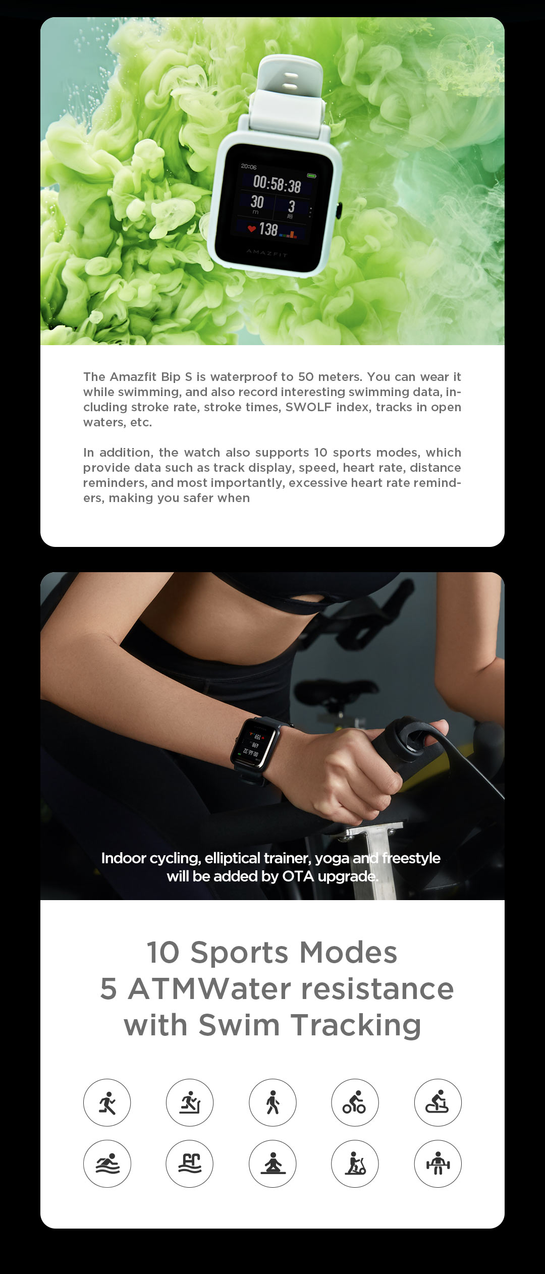 Haf3c62843f894b1280b45fbdb30fba5fs In Stock 2020 Global Amazfit Bip S Smartwatch 5ATM waterproof built in GPS GLONASS Smart Watch for Android iOS Phone