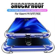 Super Shockproof Airbag Case for Xiaomi Mi 9T Mi 9 SE Soft Crystal Case Mi9 SE Mi9T Clear Silicone Case Mi 9 T Mi 9SE TPU Cover clear cover case for xiaomi mi 9 mi9 se 9se case air cushion soft silicone tpu bumper shockproof luxury shell