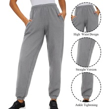 2019 Loose Cotton Sportswear Women Baggy Pants Polyester Fiber Light Grey Trousers Leggings Fashion Sexy Long Sports